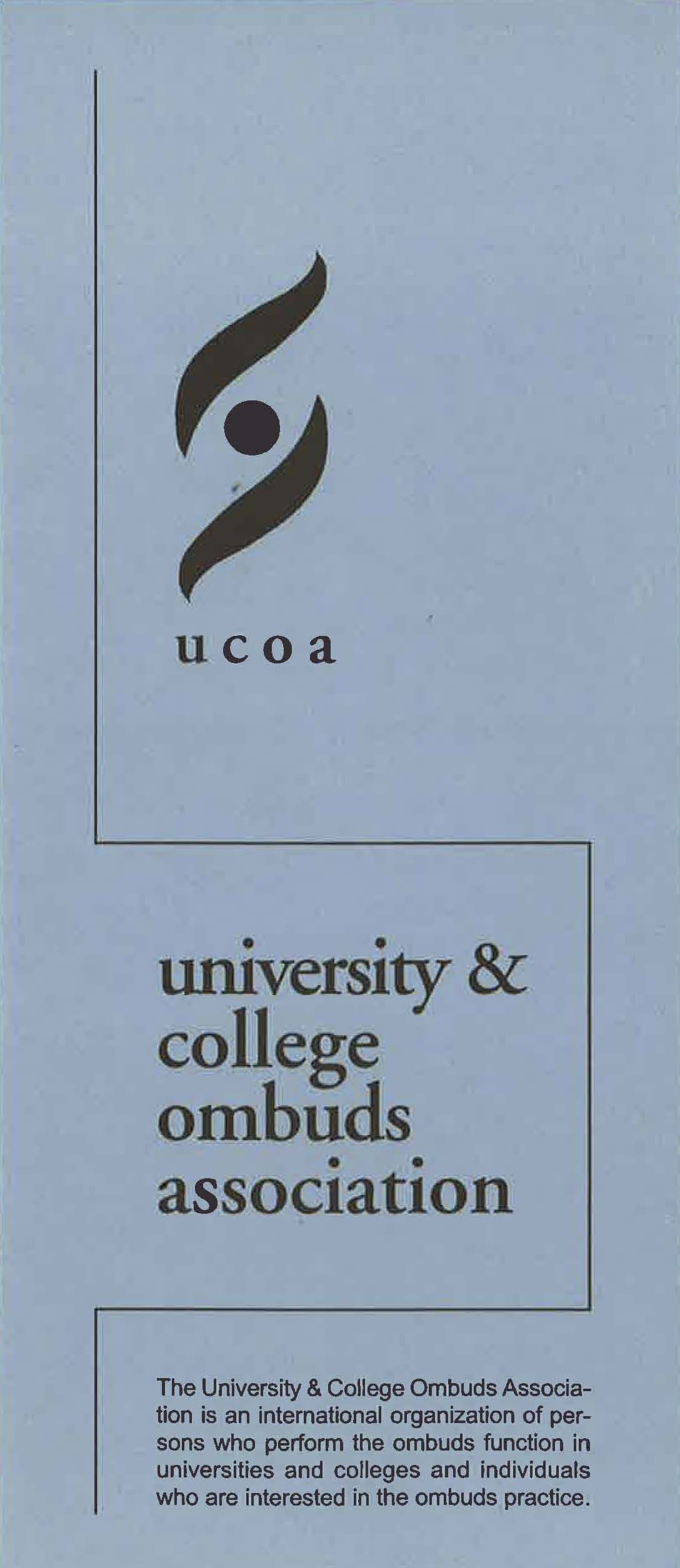 University and College Ombuds Association brochure, undated