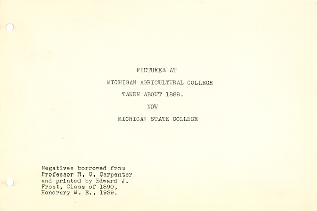 01. Title Page of the Edward J. Frost Album