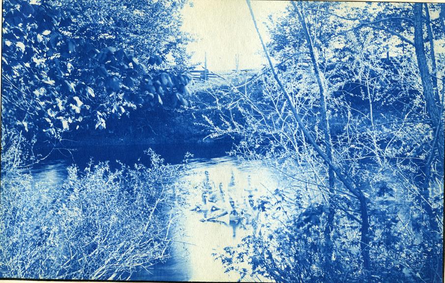 18. People swimming in a river, circa 1888.