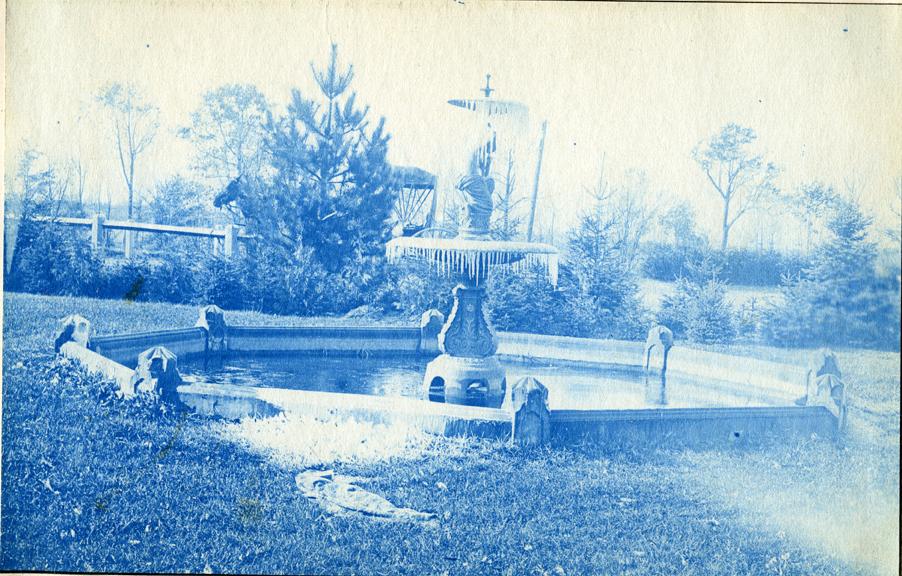 20. Campus fountain, circa 1888.