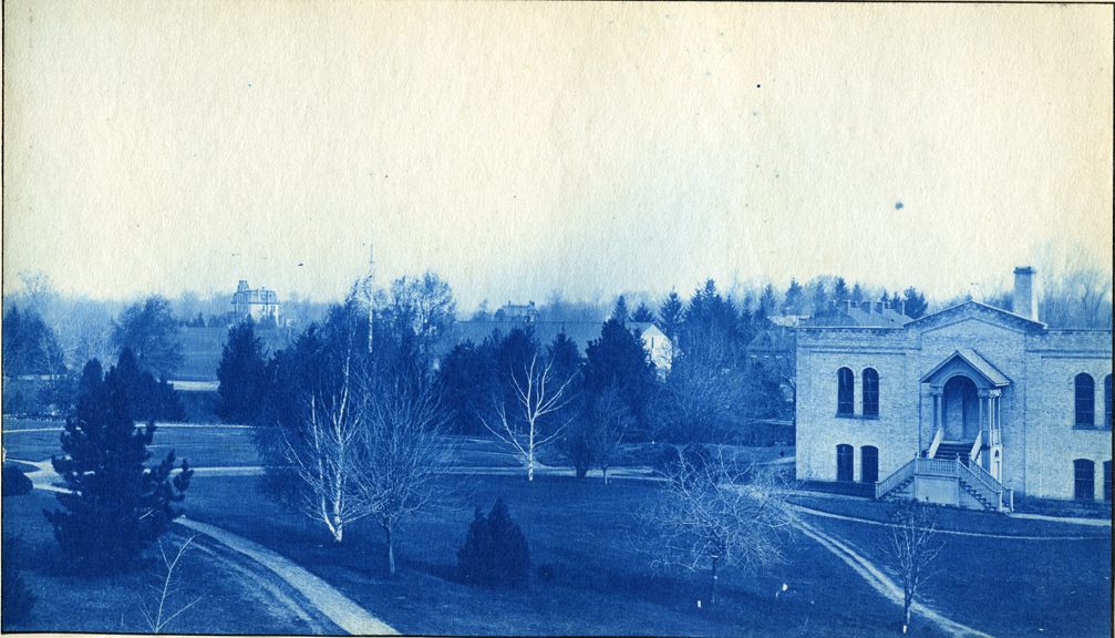 26.  Chemical Laboratory and campus grounds, circa 1888.
