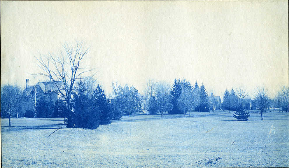 30. Campus grounds and buildings, circa 1888.