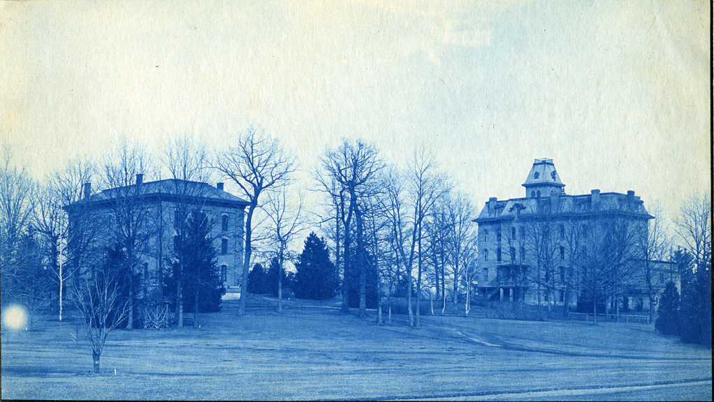 35. College Hall and Williams Hall, circa 1888.