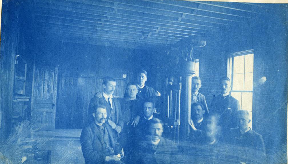 41. Men in a machine shop, circa 1888.