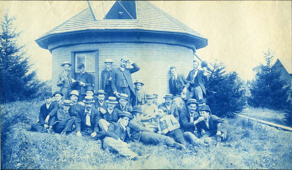 42. Students outside the Astronomical Observatory, circa 1888.
