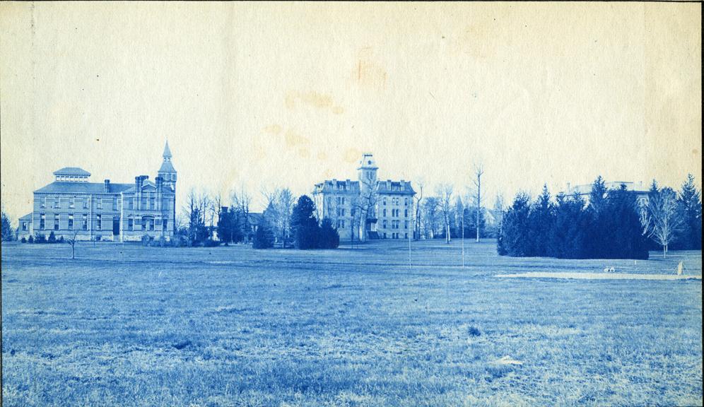 43. Linton Hall and Williams Hall, circa 1888.