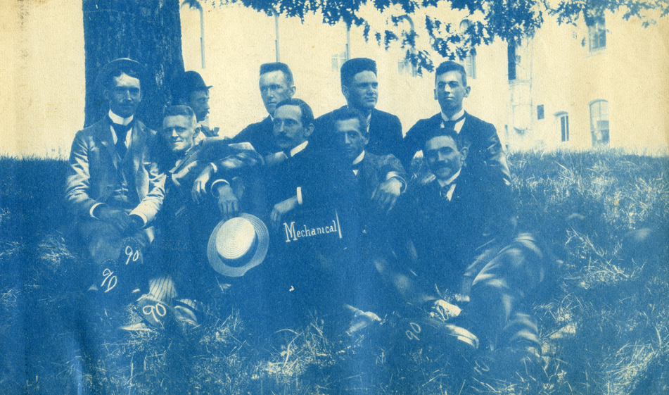 49. Group of mechanical students, circa 1888.