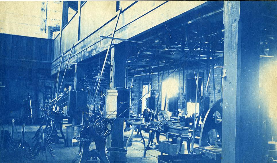 52. Interior of machine or mechanical shop, circa 1888.