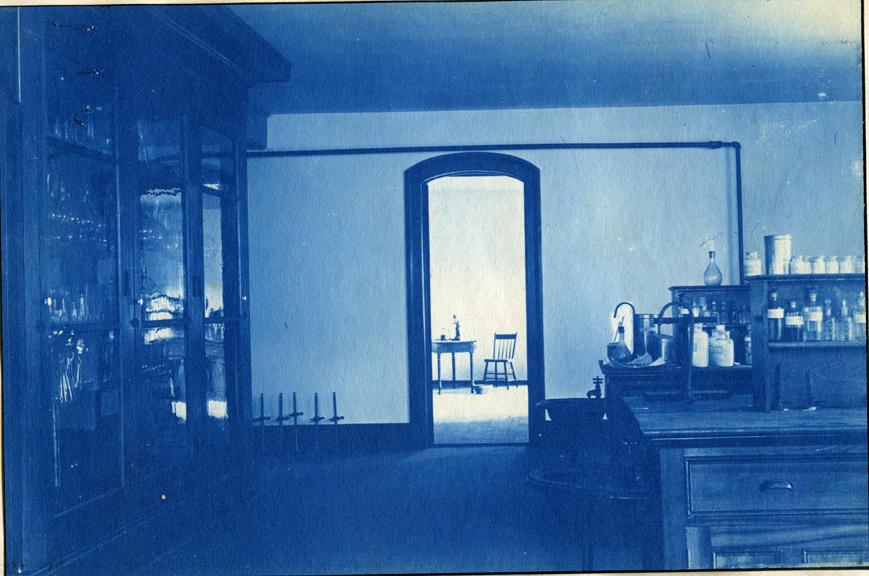 59. Interior of a laboratory classroom, circa 1888.