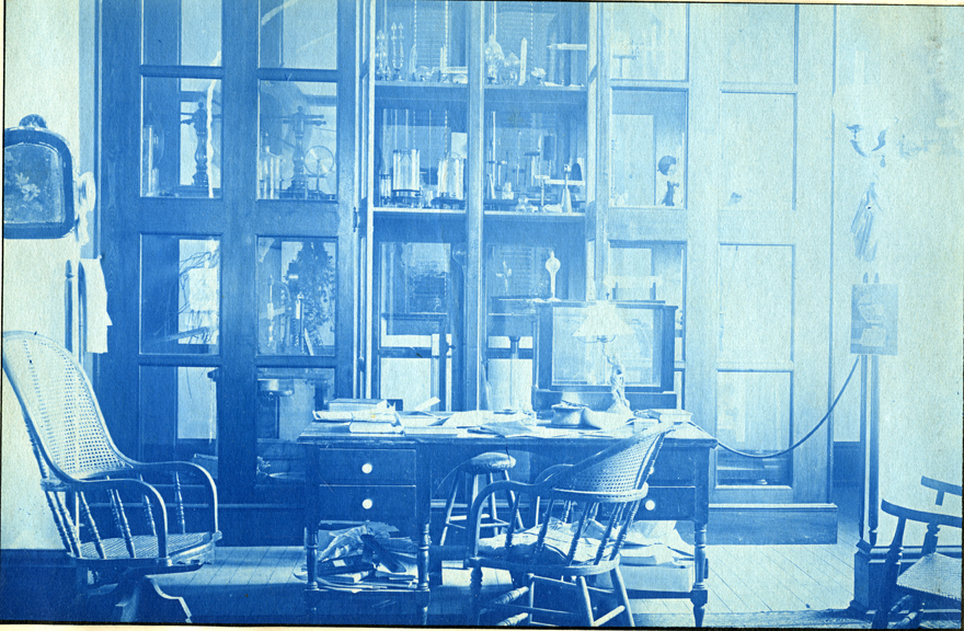 70. An office with equipment, circa 1888.