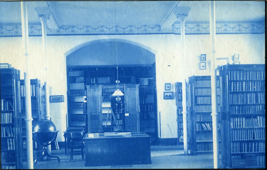 71. Interior of the Library, circa 1888.