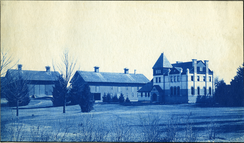 74. Veterinary Laboratory and barns, circa 1888.