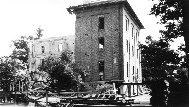 Fallen Down College Hall, 1918