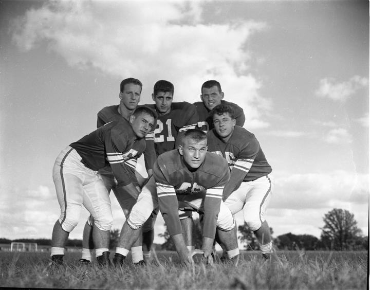 1955 MSU Football Center and Quarterbacks