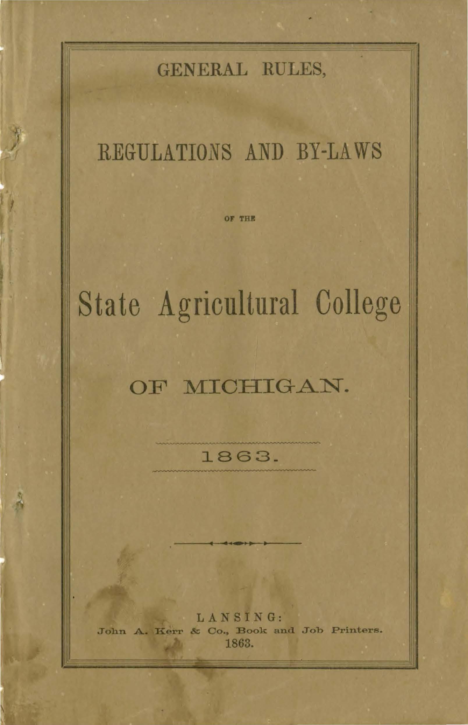 Student Handbook, 1863