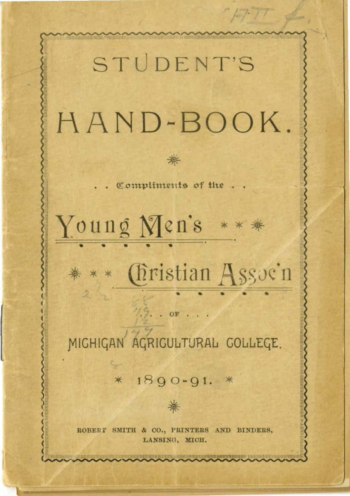 Student Handbook, 1890-1891