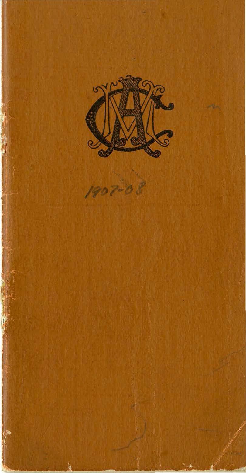 Student Handbook, 1907-1908