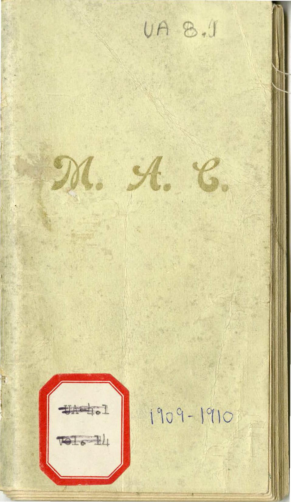 Student Handbook, 1909-1910