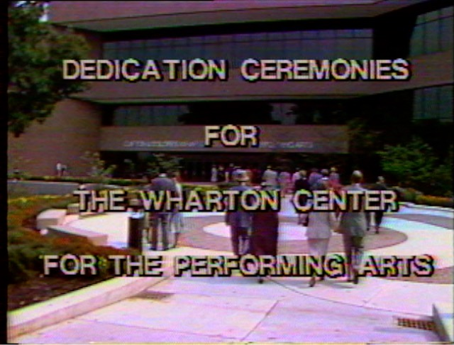 Dedication Ceremonies for the Wharton Center for the Performing Arts, 1982
