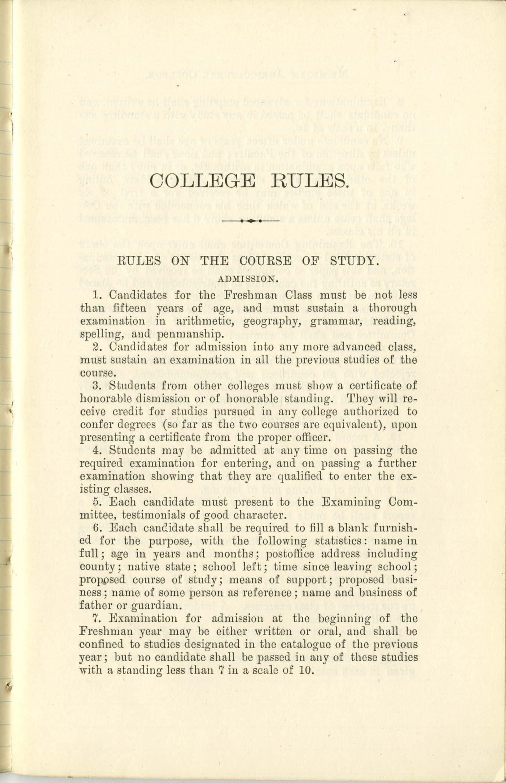 Student Handbooks, 1870-1879