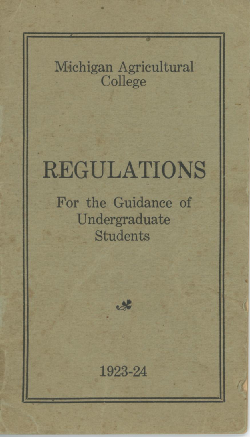 Student Handbooks, 1920-1929