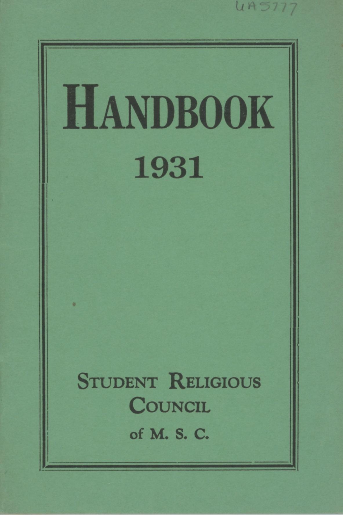 Student Handbooks, 1930-1939