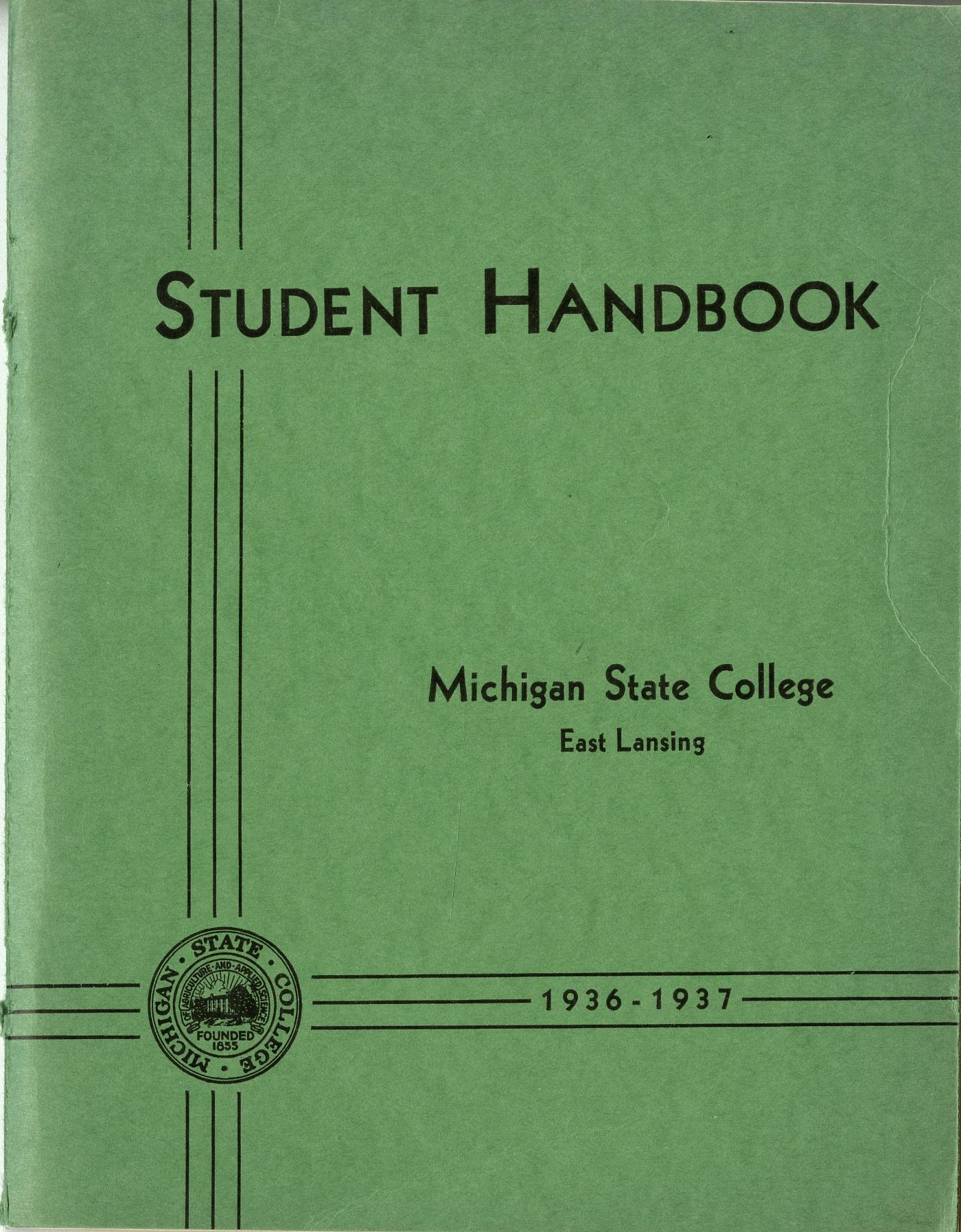 Student Handbook, 1936-1937
