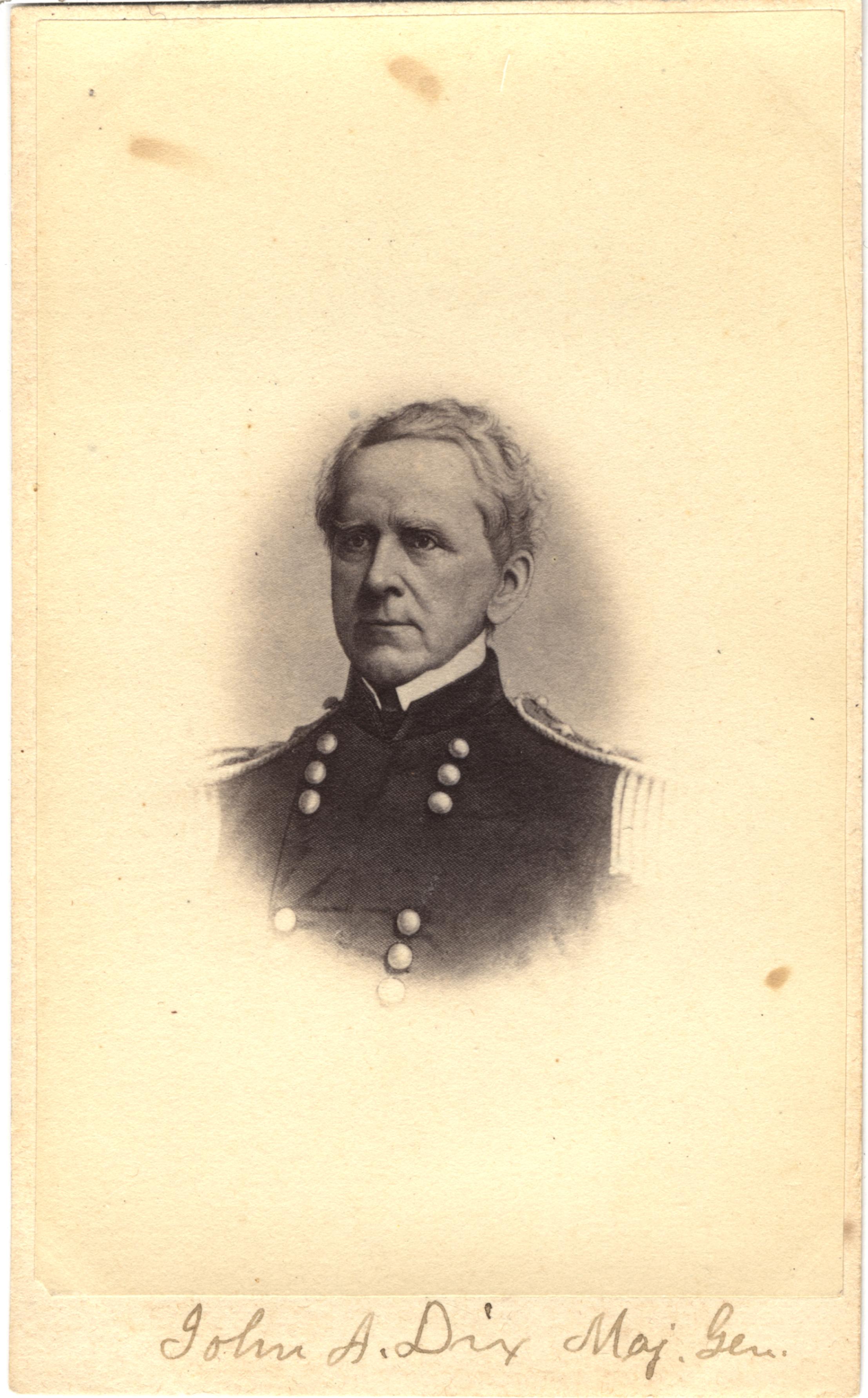 John A. Dix, circa 1860s