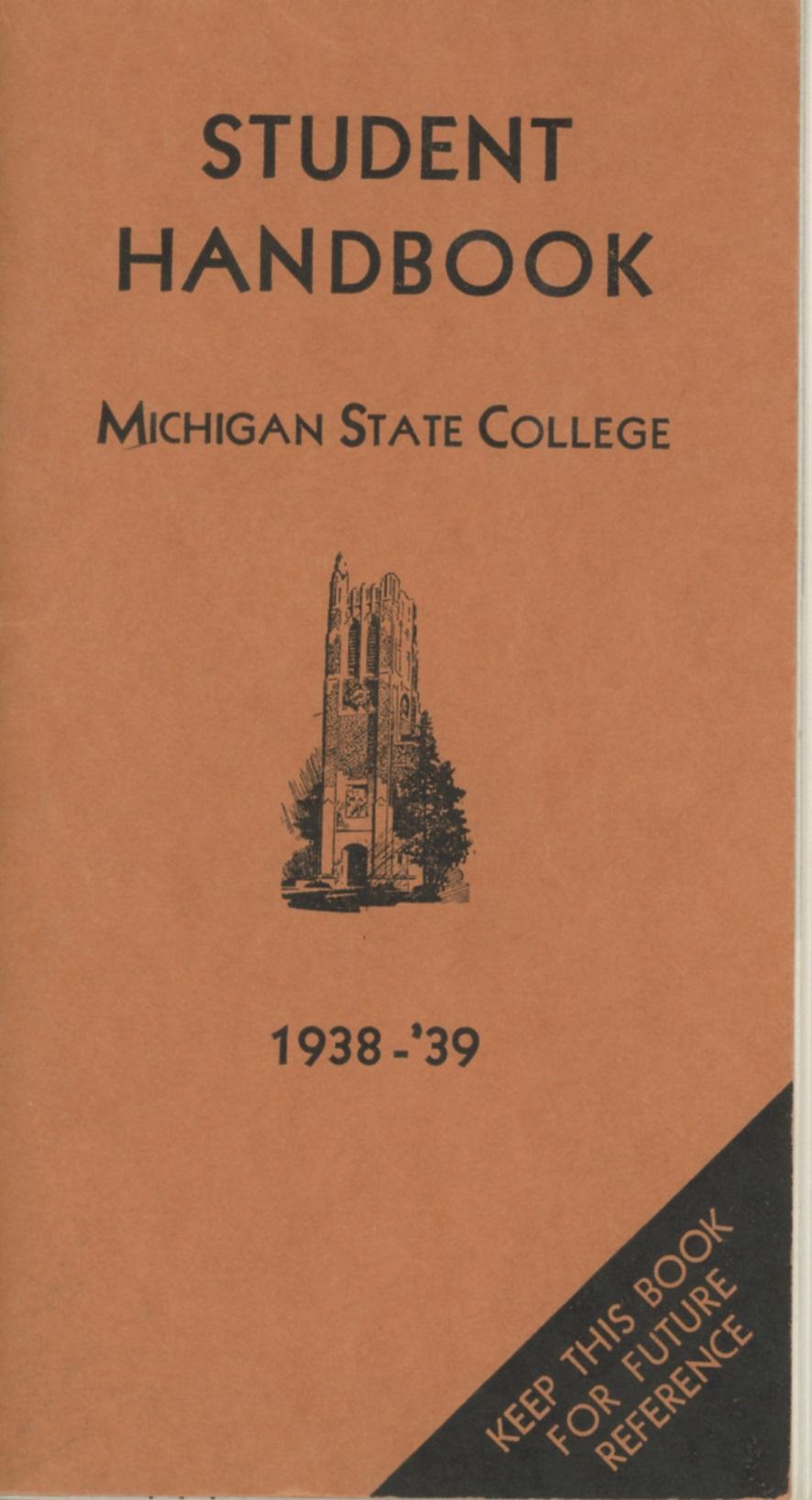 Student Handbook, 1938-1939