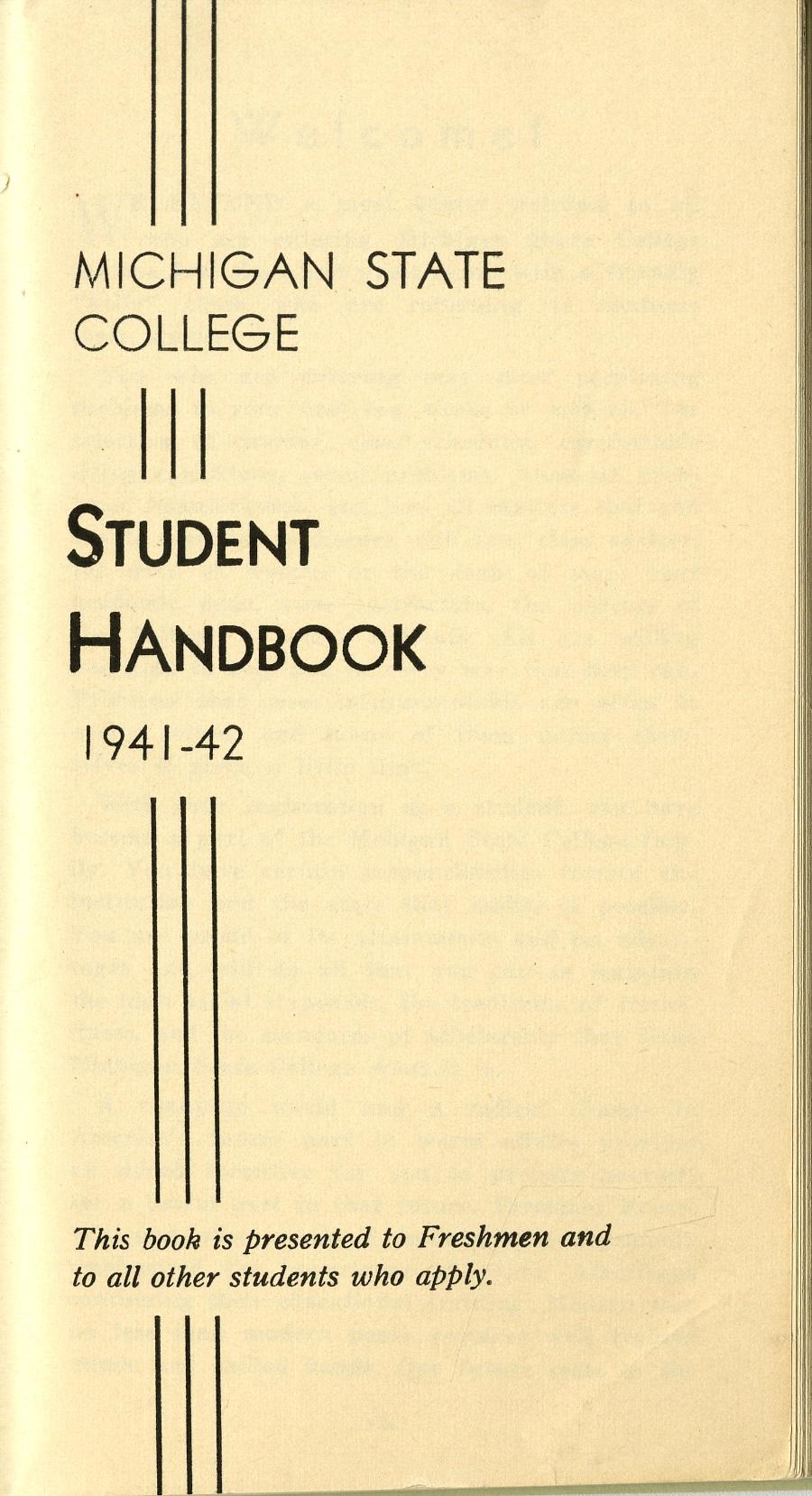 Student Handbook, 1941-1942