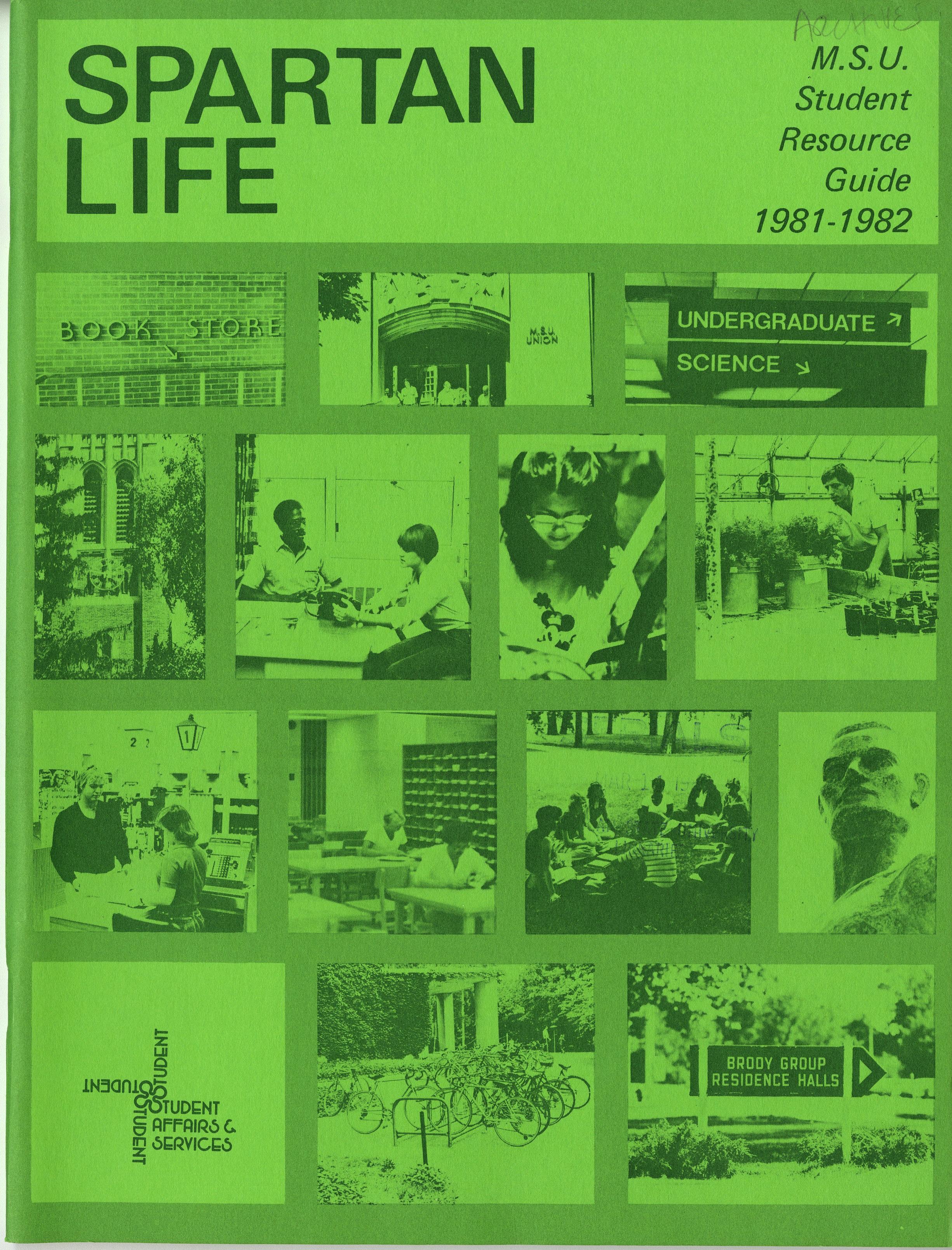 Student Handbook, 1981-1982