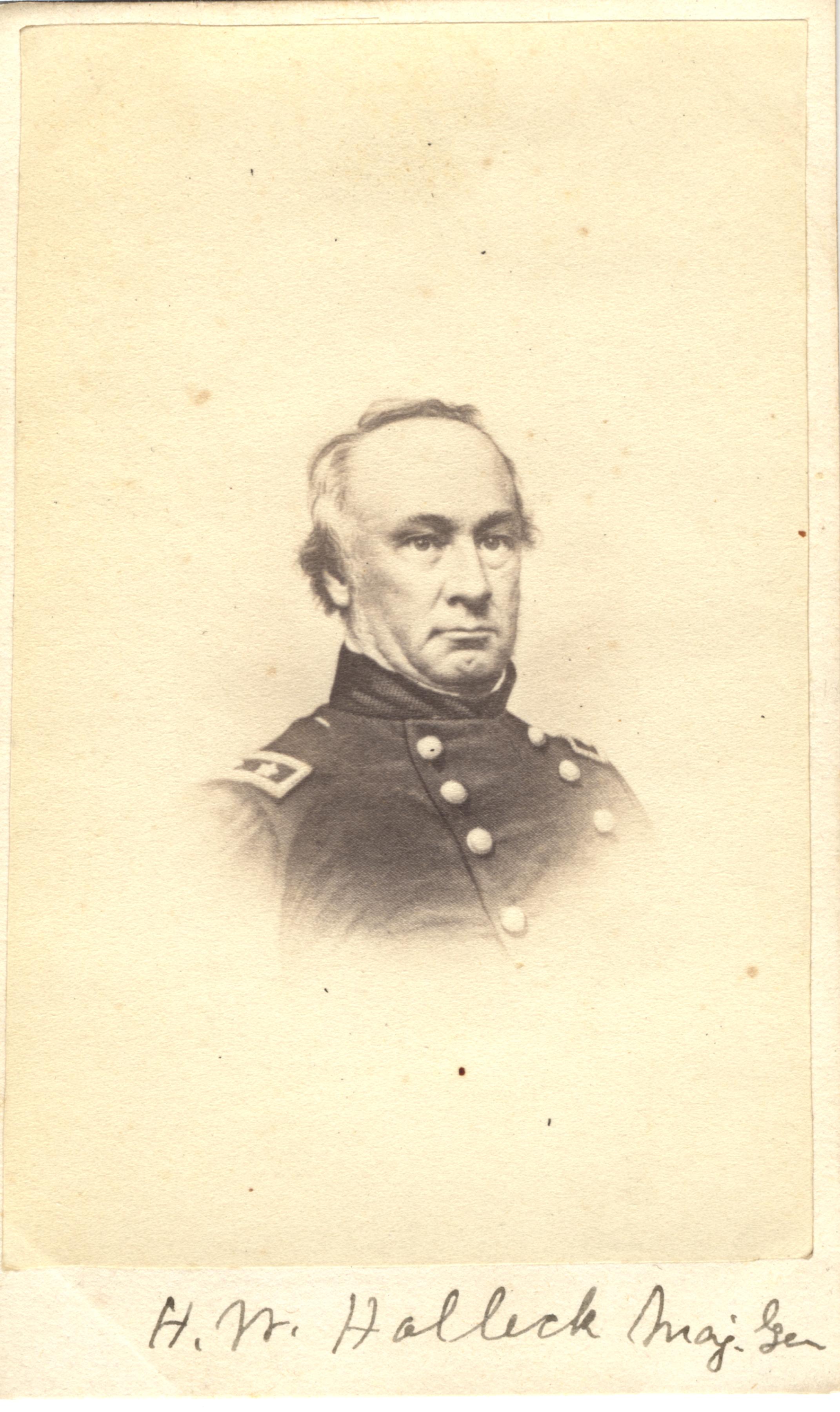 H. W. Halleck, circa 1860s
