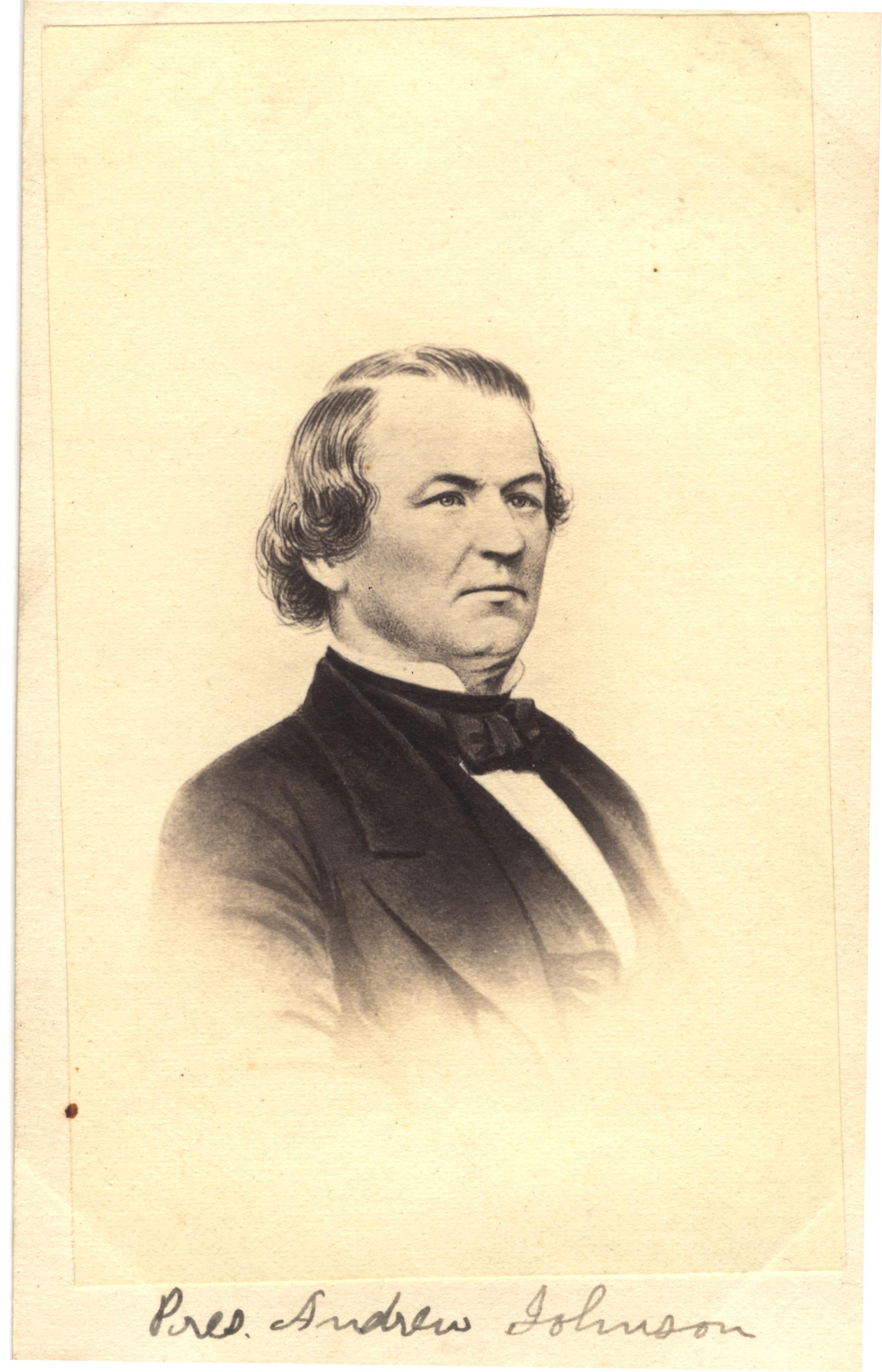 Andrew Johnson, circa 1860s