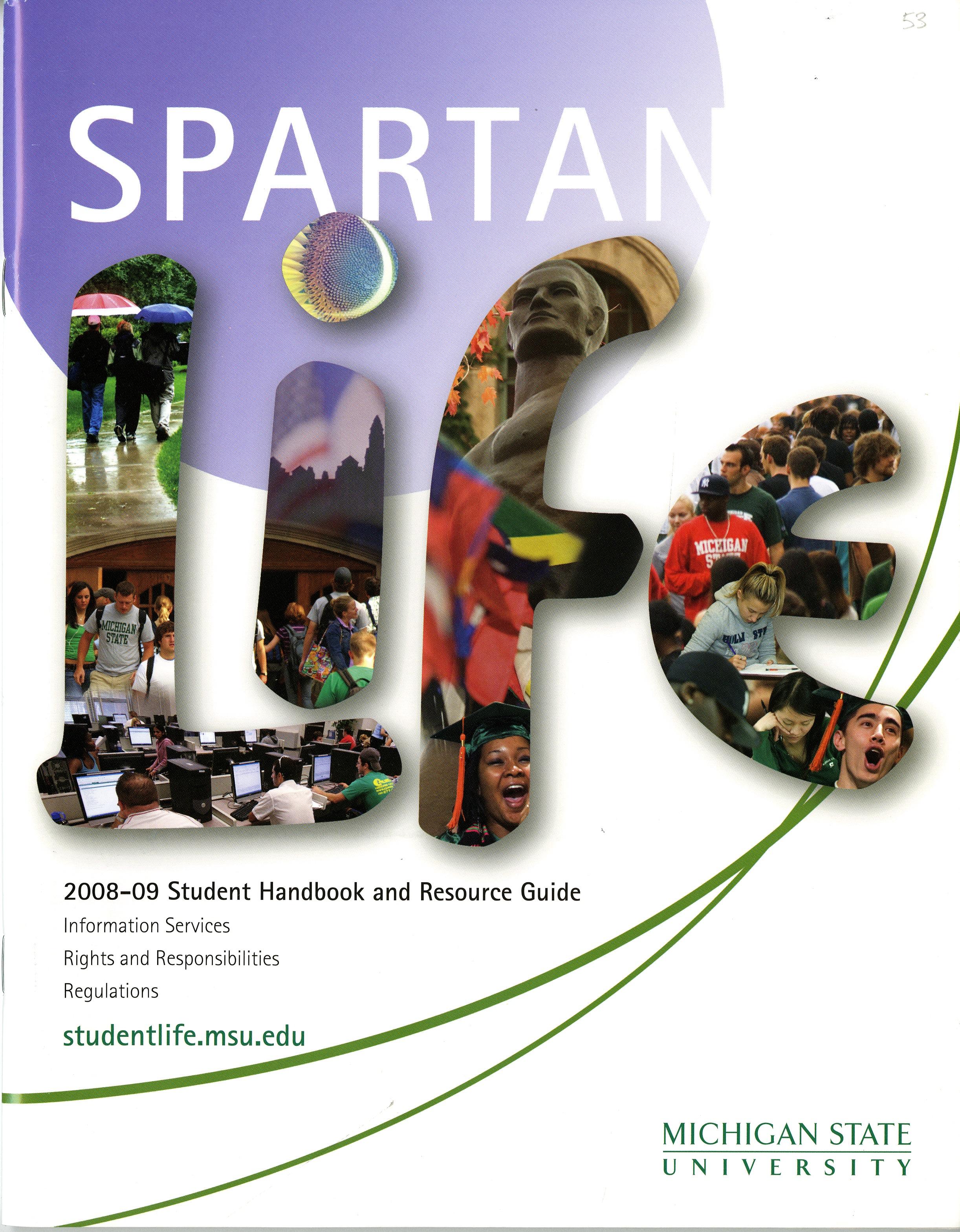 Student Handbook, 2008-2009