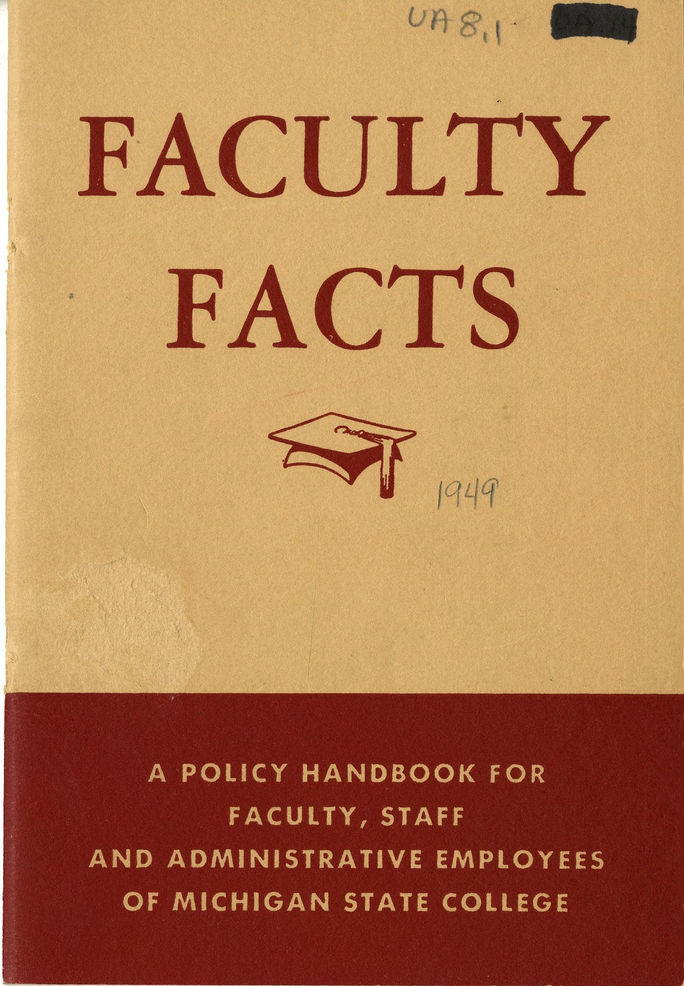 Faculty Handbook, 1949