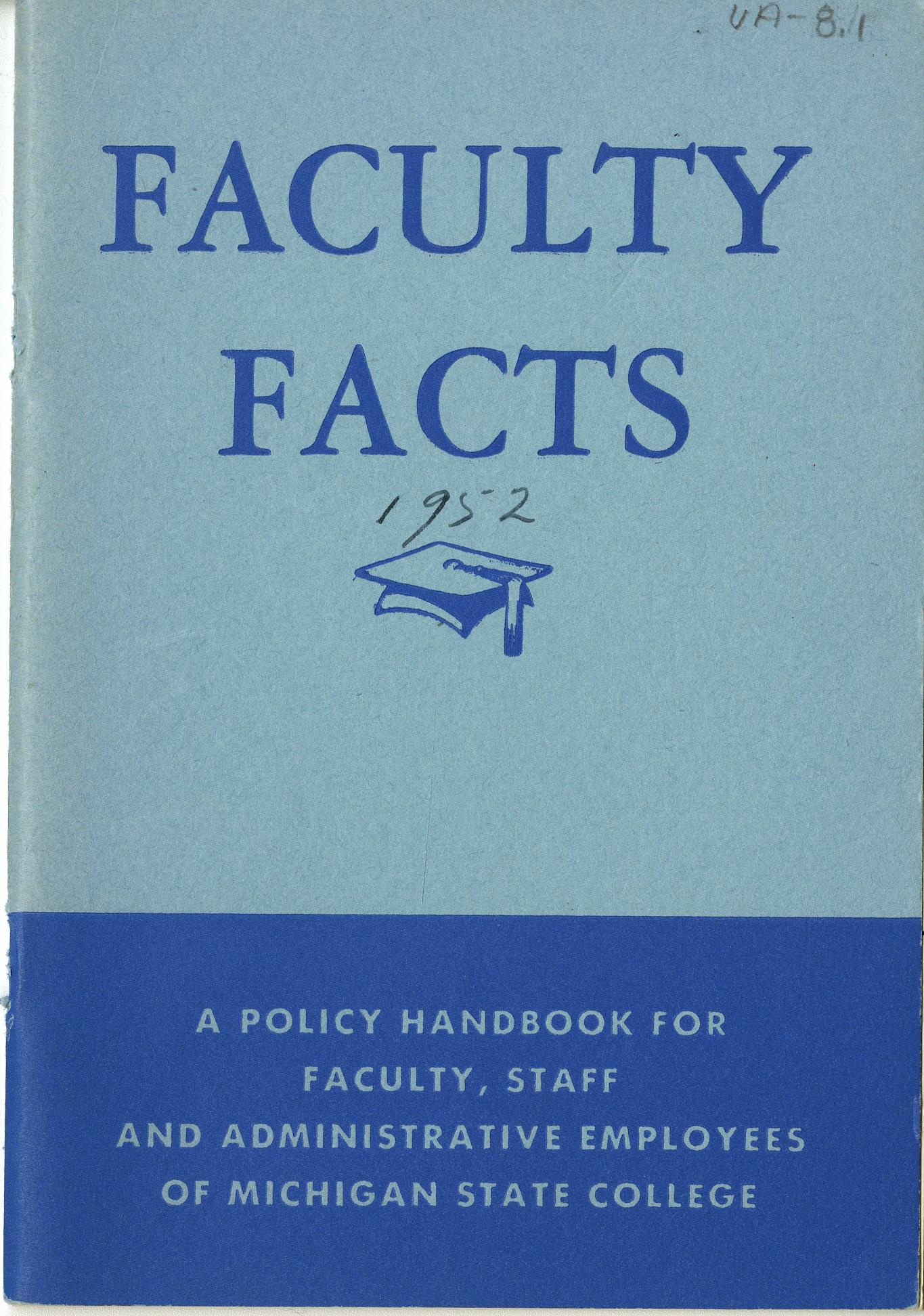 Faculty Handbook, 1952