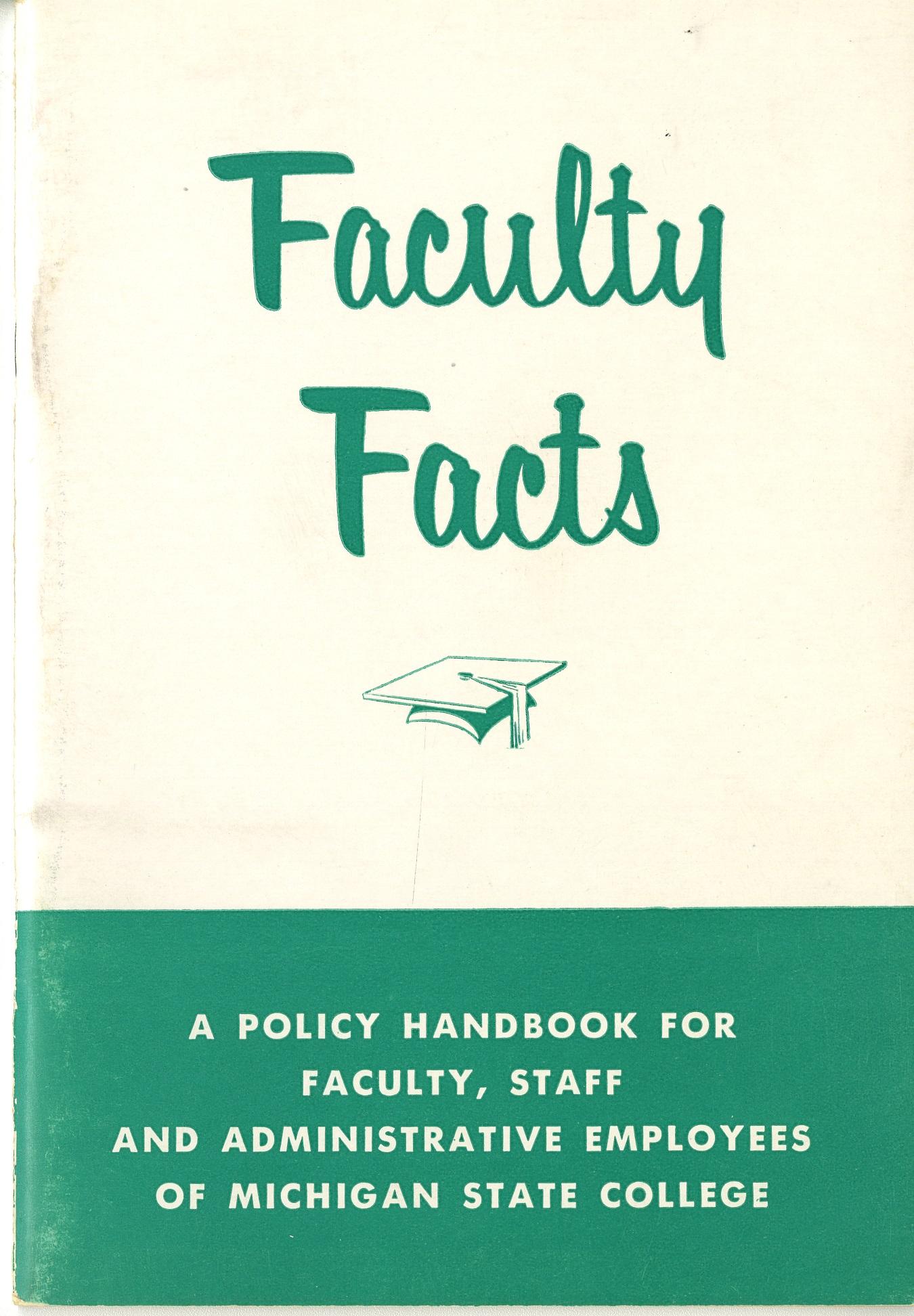 Faculty Handbook, 1954