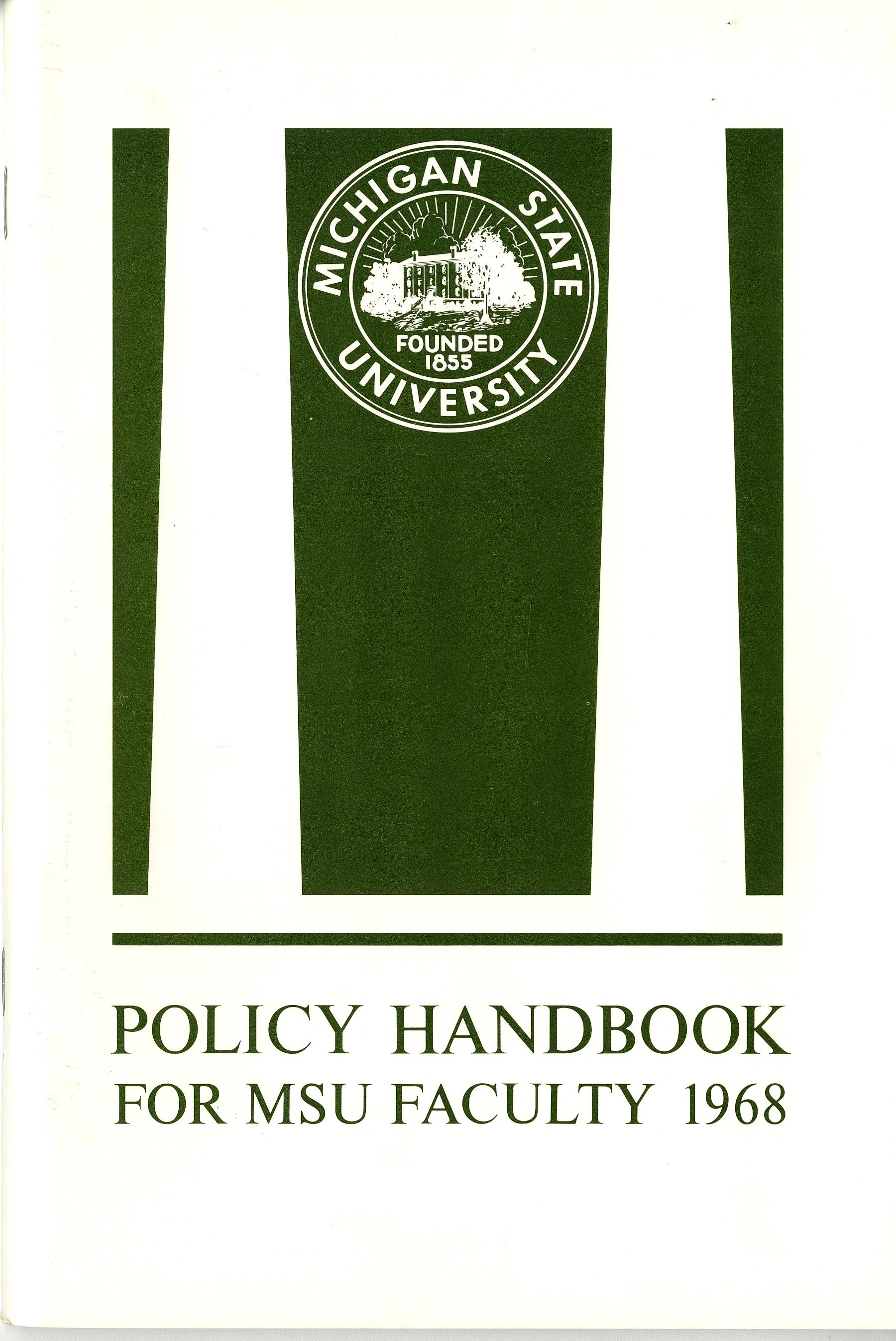 Faculty Handbook, 1968