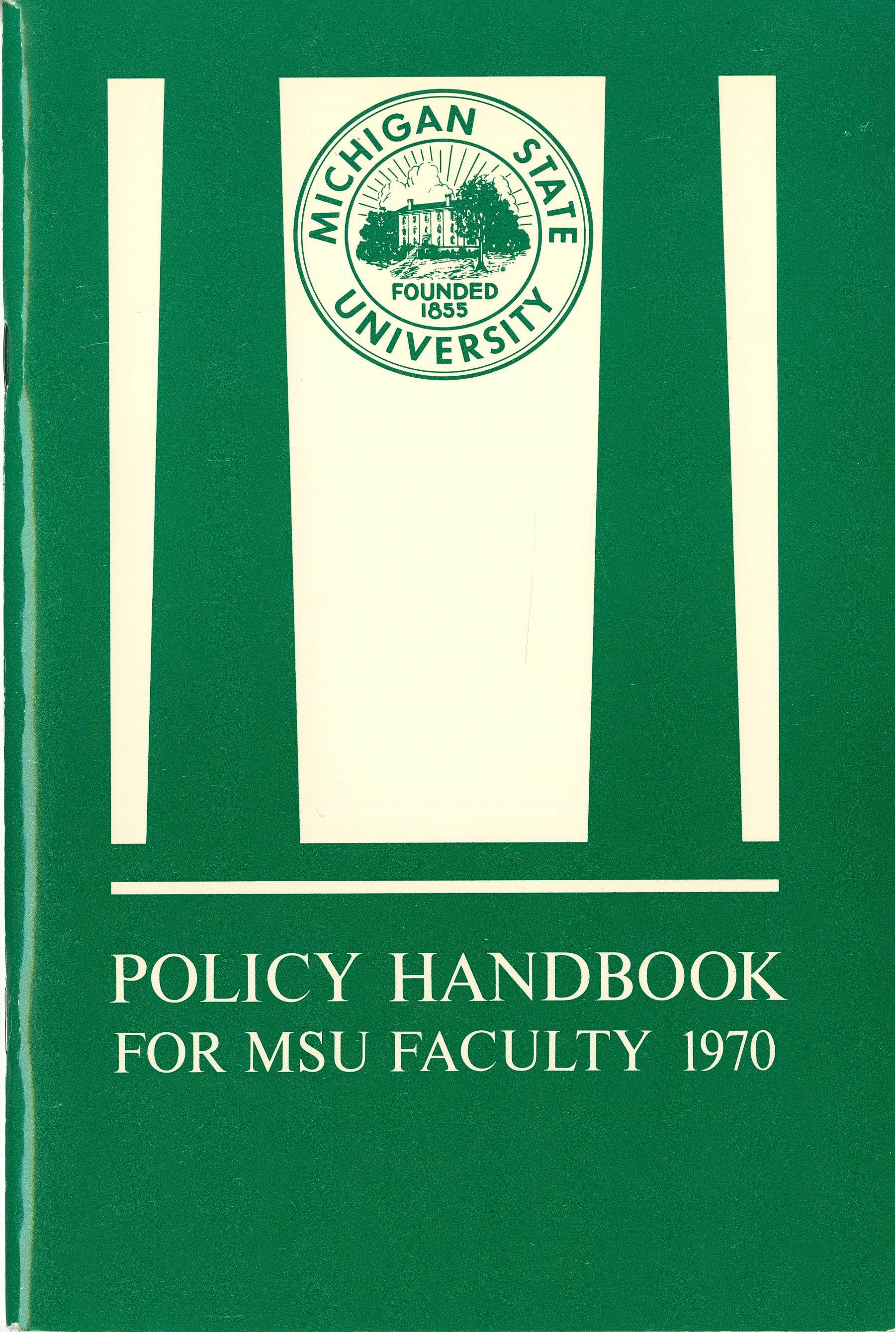 Faculty Handbook, 1970