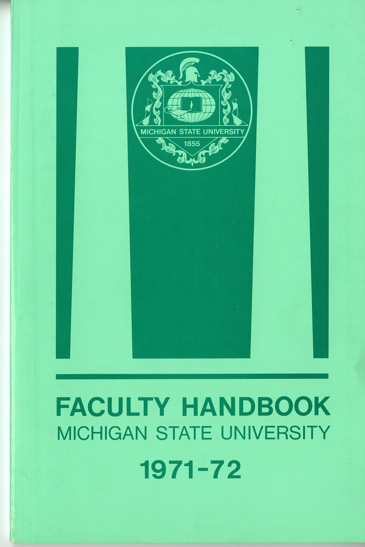 Faculty Handbook, 1971-1972