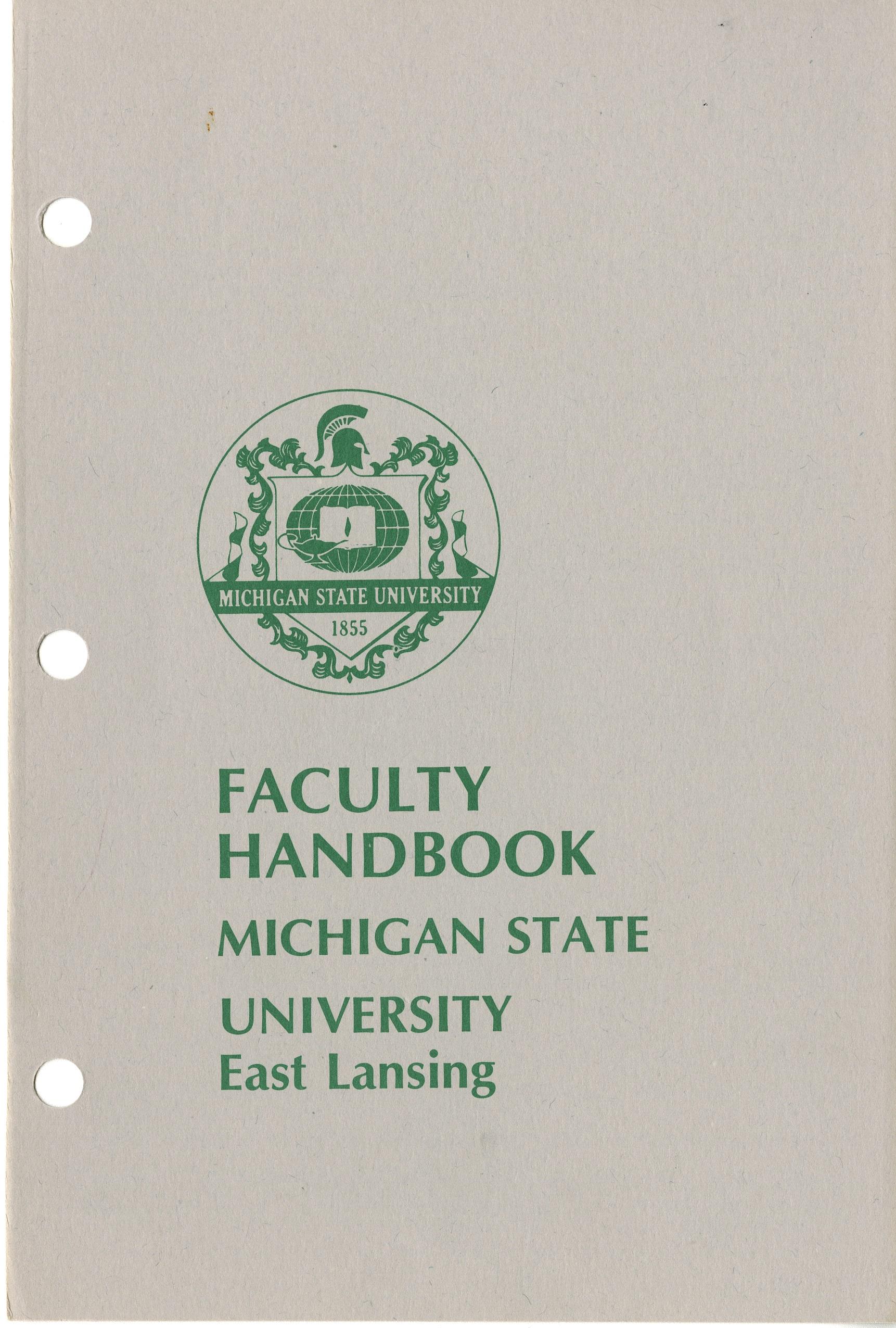 Faculty Handbook, 1981