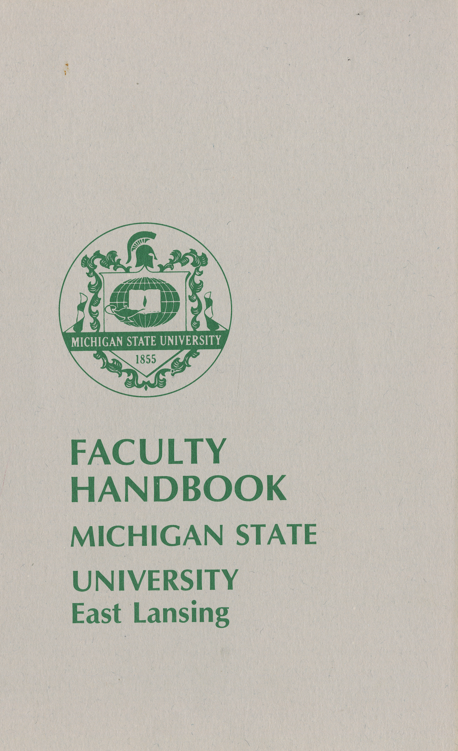 Faculty Handbooks, 1980-1989