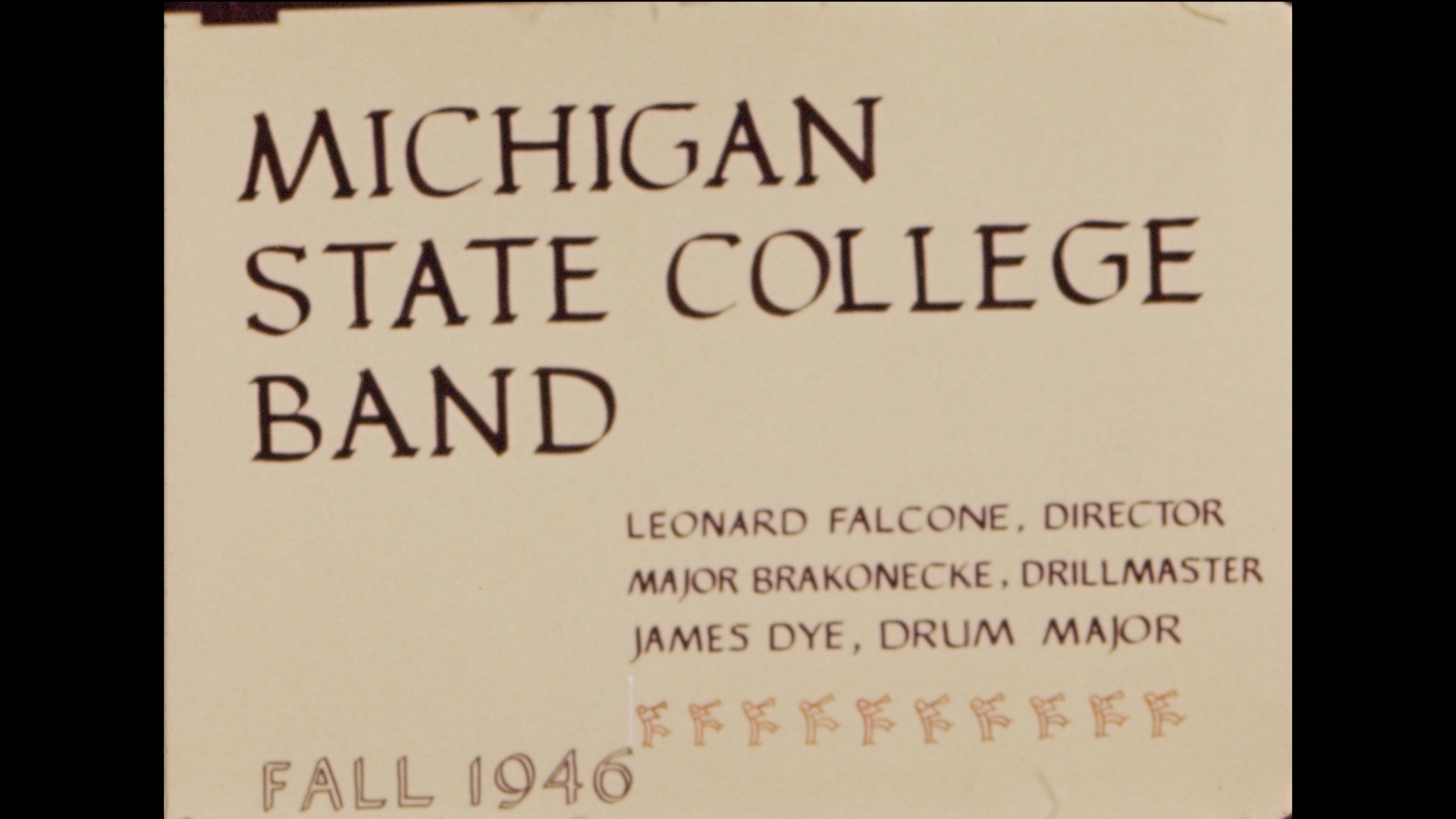 MSC Marching Band, 1946