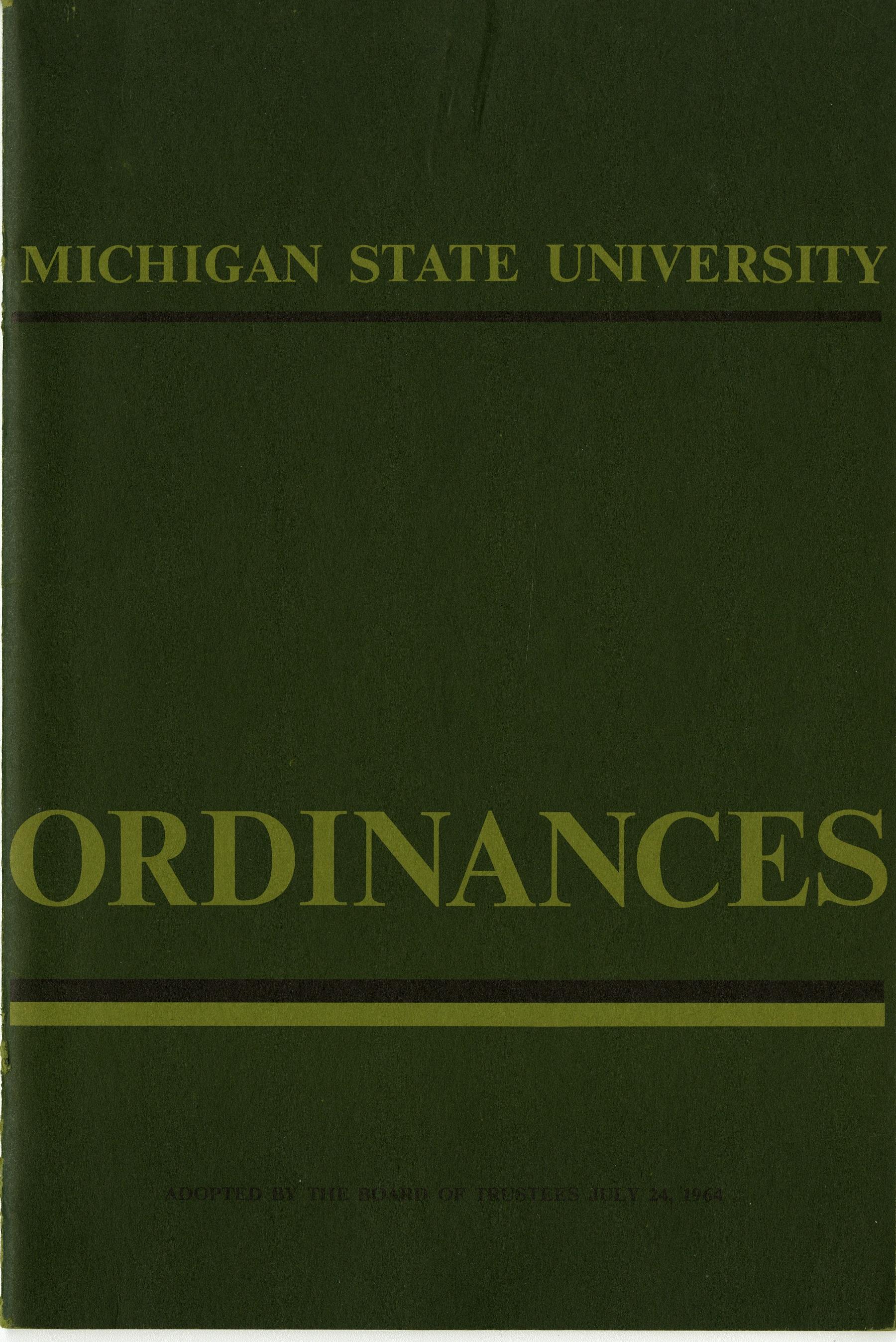 MSU Ordinances, 1964