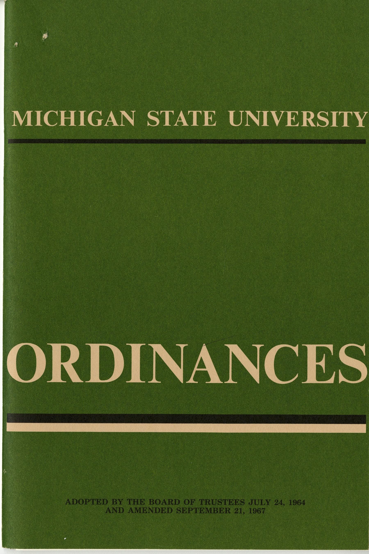 MSU Ordinances, 1967