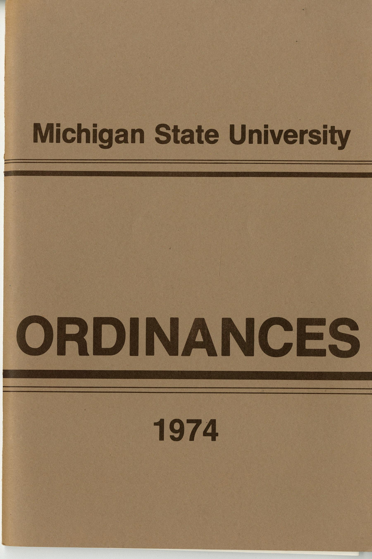 MSU Ordinances, 1974