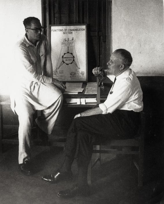 John Hannah meeting with Akhter Hameed Khan, 1961