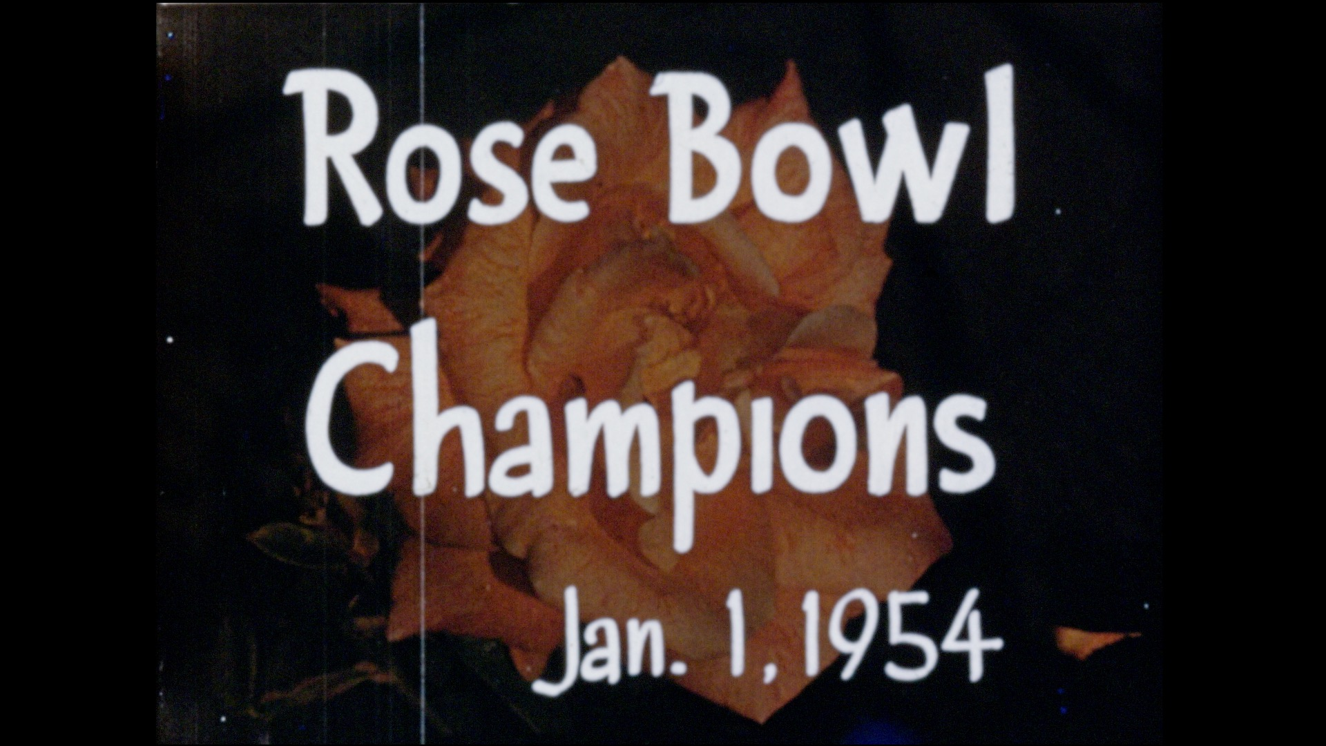 Rose Bowl - Biggie Munn Narration, 1954