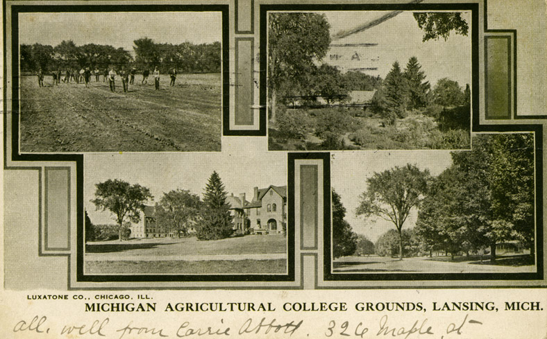 Four scenes of the M.A.C. grounds, ca. 1907