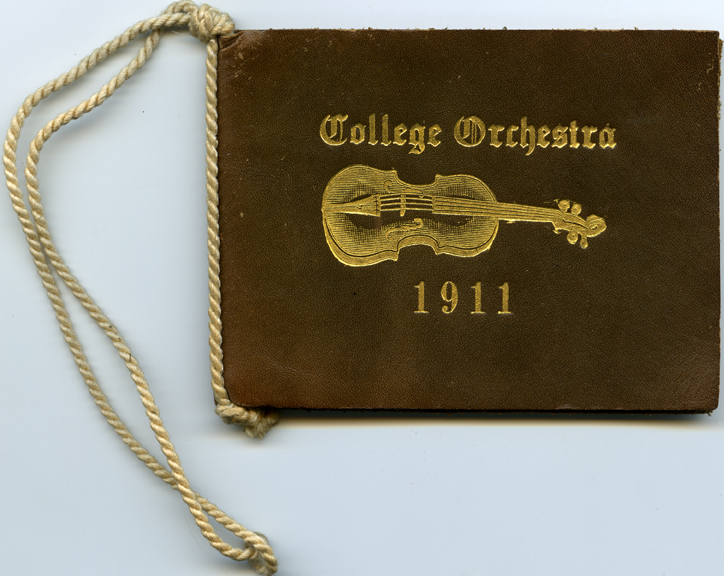 College Orchestra dance card, 1911